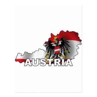 Austria Map Postcard