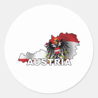 Austria Map Round Sticker