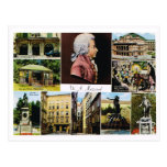 Austria, Mozart, places linked to Mozart Postcards