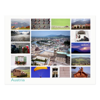 Austria multi-image postcard