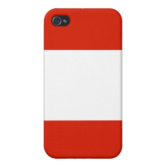 Austria National Nation Flag  Case For iPhone 4