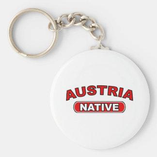 Austria Native Basic Round Button Key Ring