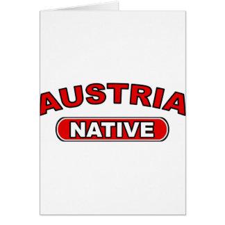 Austria Native Greeting Card