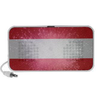 Austria; Österreich Flagge Portable Speaker