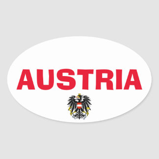 Austria Oval Sticker