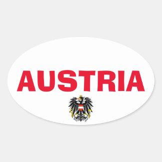 Austria Oval Sticker