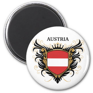 Austria [personalize] 6 cm round magnet