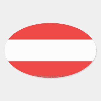 Austria Plain Flag Oval Stickers