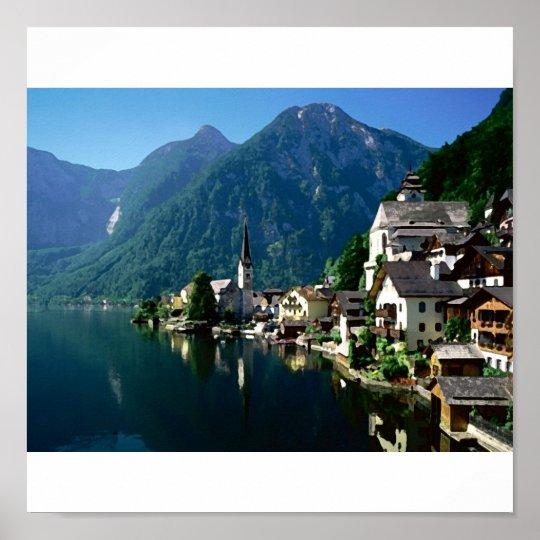 austria river poster