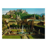 Austria, Salzburg, Schloss Hollenberg, gardens Poster