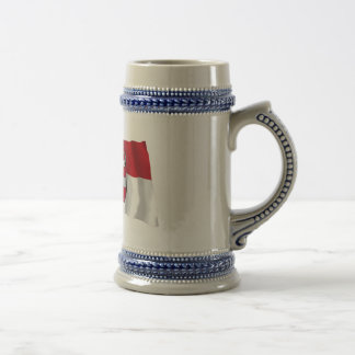 Austria & Salzburg Waving Flags Beer Stein