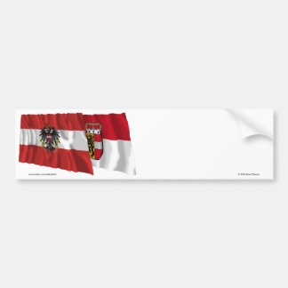 Austria & Salzburg Waving Flags Bumper Sticker