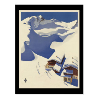 Austria Ski lodge in the Alps Postcard
