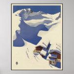 Austria Ski lodge in the Alps Print