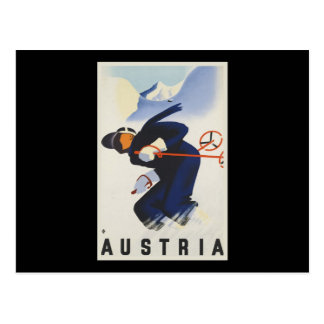 Austria Ski Postcard