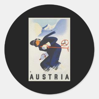 Austria Ski Round Sticker