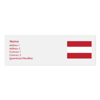 Austria - Skinny Double-Sided Mini Business Cards (Pack Of 20)