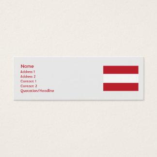 Austria - Skinny Mini Business Card