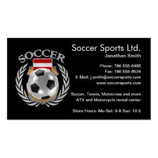 Austria Soccer 2016 Fan Gear Pack Of Standard Business Cards