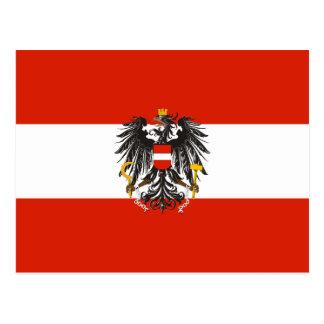 Austria (State, Variant), Austria flag Postcard