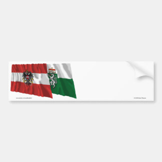 Austria & Steiermark Waving Flags Bumper Sticker