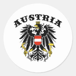 Austria Round Stickers
