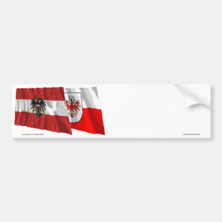 Austria & Tirol Waving Flags Bumper Sticker