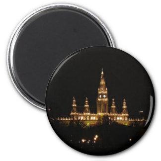 Austria: Vienna at Night Magnet