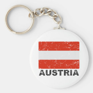 Austria Vintage Flag Key Ring