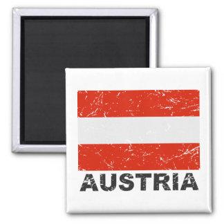 Austria Vintage Flag Magnet