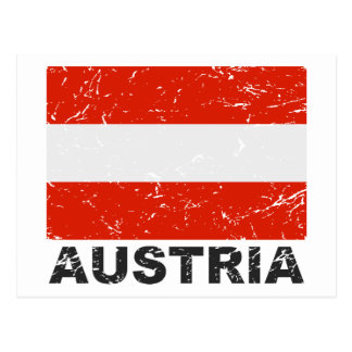Austria Vintage Flag Postcards
