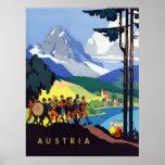 Austria Vintage Travel Advert
