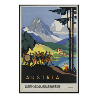Austria Vintage Travel Poster Ad Retro Prints