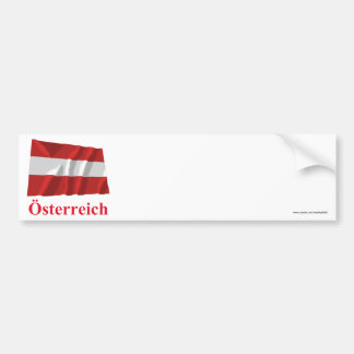 Austria Waving Civil Flag with Name in German Bumper Sticker