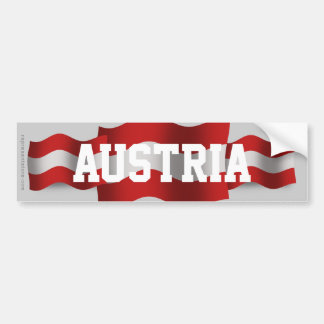 Austria Waving Flag Bumper Sticker