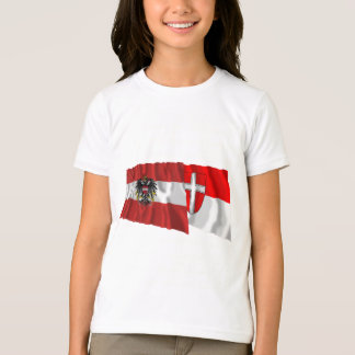 Austria & Wien Waving Flags T-Shirt