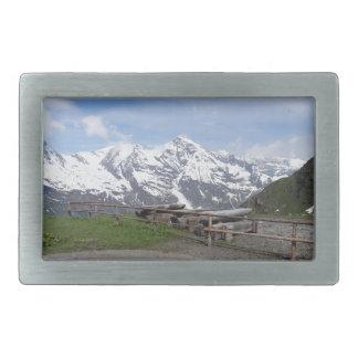 Austrian Alps custom belt buckle