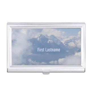 Austrian Alps custom business card holder