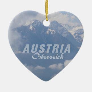 Austrian Alps custom ornament