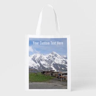 Austrian Alps custom reusable bag