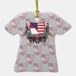 Austrian-American Shield Flag Christmas Ornament