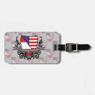 Austrian-American Shield Flag Luggage Tag