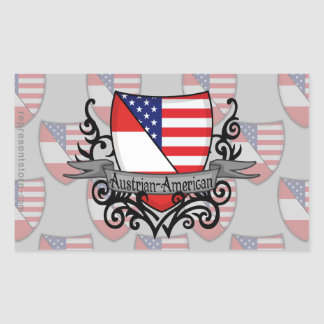 Austrian-American Shield Flag Rectangular Sticker
