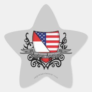 Austrian-American Shield Flag Star Stickers