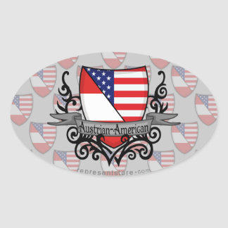 Austrian-American Shield Flag Stickers