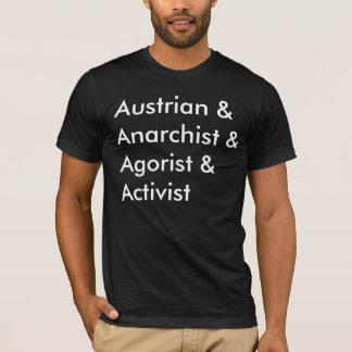 Austrian Anarchist Agorist Activist T-Shirt