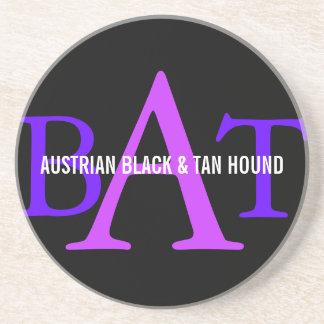 Austrian Black and Tan Hound Monogram Beverage Coaster