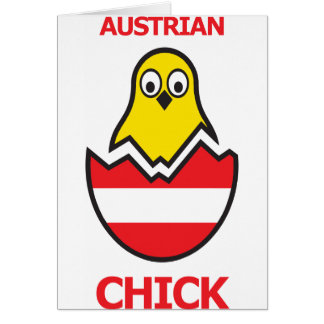 Austrian Chick Greeting Card
