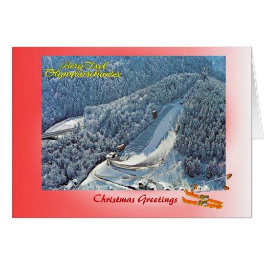 Austrian Christmas, Innsbruck Olympic Ski jump Card