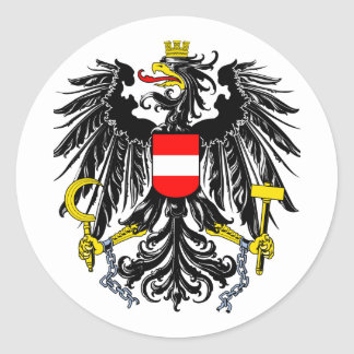 Austrian Coat of Arms Classic Round Sticker